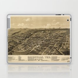 Aerial View of Greenville, Texas (1886) Laptop & iPad Skin