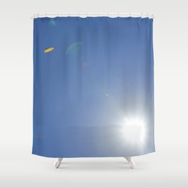 Up in the air.... Shower Curtain