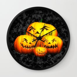 Pumpkin Family Wall Clock