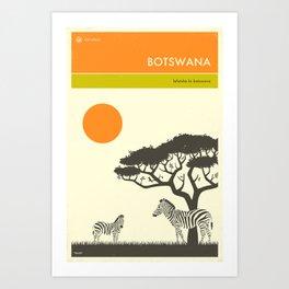 VISIT BOTSWANA Art Print