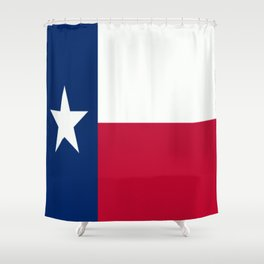 Lone Star ⭐ Texas State Flag Shower Curtain