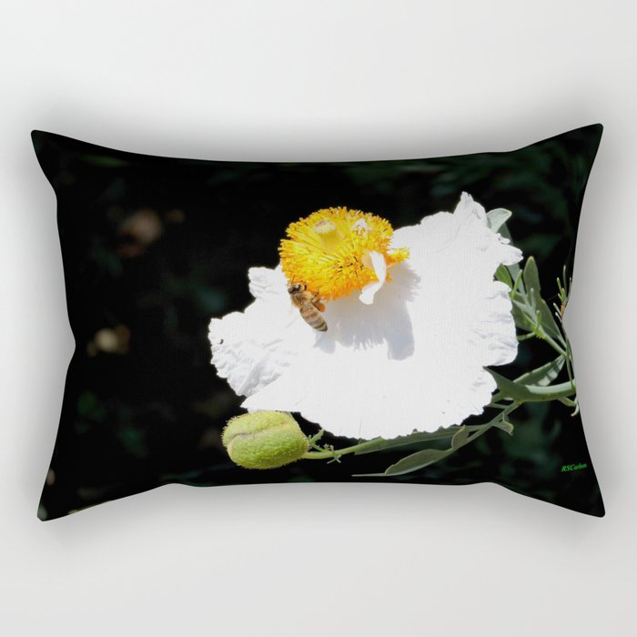 Matilija Poppy Rectangular Pillow