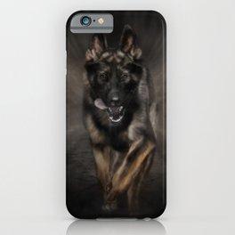 German Shepherd Dog - Running iPhone Case