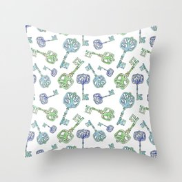 Family of Trees, Skeleton Keys Throw Pillow