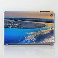 waldo iPad Cases featuring Depth Of Life Quote Ralph Waldo Emerson by JuliaApostolova
