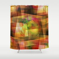 geo Shower Curtains featuring Geo by Christine baessler