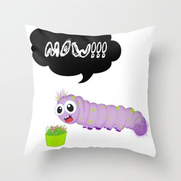 Hungry Worm Throw Pillow