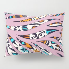 Inky Scribble Pink Boho Pattern Pillow Sham