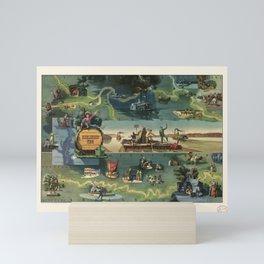 The adventures of Huckleberry Finn from the book by Mark Twain Mini Art Print