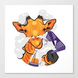 GIRAFFE MECH STICKER - VAPORZOO Canvas Print