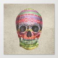 navajo Canvas Prints featuring Navajo Skull  by Terry Fan