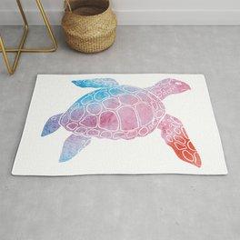 Watercolor Sea Turtle Rug