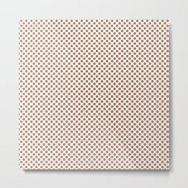 Hazel Polka Dots Metal Print