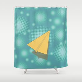 Paper Airplane 117 Shower Curtain