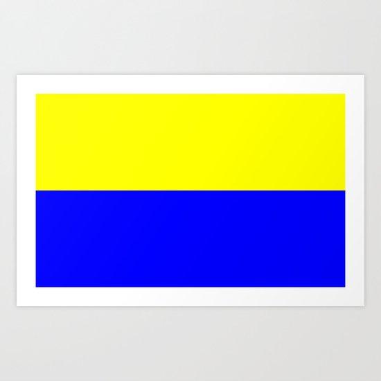 Flag of Zandvoort Art Print