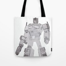 Optimus Black and White Tote Bag