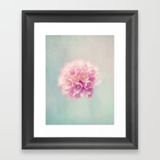 flower pink Framed Art Print