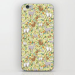 Cute Llama Pattern iPhone Skin