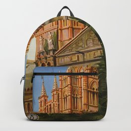 vintage Palermo Sicily Italian travel ad Backpack