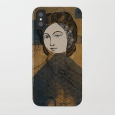 Coiffure for a young lady iPhone X Slim Case