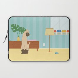 Siamese Cat And Mouse Laptop Sleeve