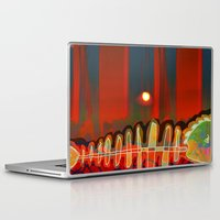 selena gomez Laptop & iPad Skins featuring Dry Swimming  / Trapped by Menchulica