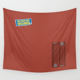 Batteries Not Included ~ Medium Carmine Wall Tapestry