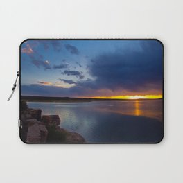 Bluewater Lake Sunset Laptop Sleeve