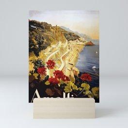 Vintage Italian 1930s Travel Poster- Amalfi Coast Mini Art Print