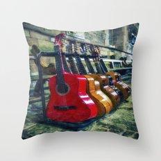 Guitar Love Throw Pillow