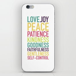 Fruits of the Spirit iPhone Skin