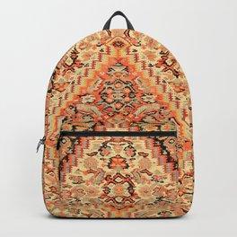 Senneh  Antique Kurdistan Northwest Persian Kilim Print Backpack