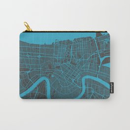 New Orleans Map blue Carry-All Pouch