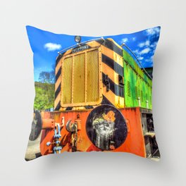Ruston Diesel Engine Throw Pillow