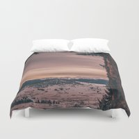 montana Duvet Covers featuring Montana Mornings by Kenna Allison