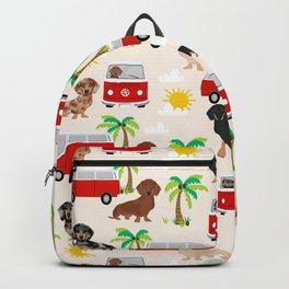 Dachshund dog beach tropical summer fun dachsie doxie lover gifts Backpack