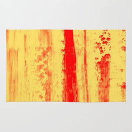 Gerhard Richter Inspired Abstract Urban Rain 3 Rug