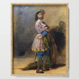 "Eugène Delacroix ""Gentleman of the time of François Ist"" Serving Tray"