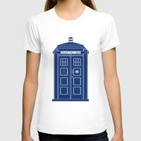 blueprint T-shirts featuring TARDIS Blueprint - Doctor Who by BeckiBoos
