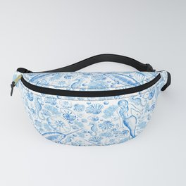 Mermaid Toile - Blue Fanny Pack