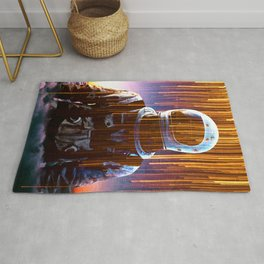 Astronaut in the Clouds Rug