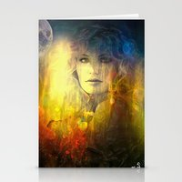 """sandra dieckmann Stationery Cards featuring """" Sandra """"  by shiva camille"""