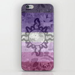 Light Aspect Lesbian Floral iPhone Skin