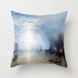 Joseph Mallord William Turner Keelmen Heaving in Coals by Moonlight Throw Pillow