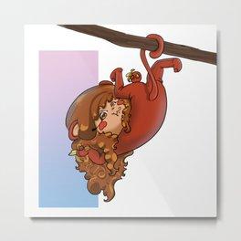 Scimmia Metal Print
