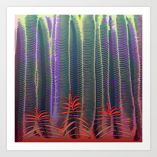 Spring Tropical Jungle Art Print