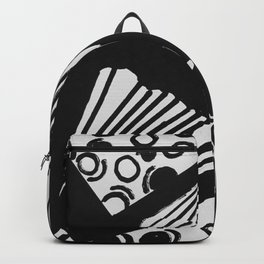 wavy circle pattern design Backpack