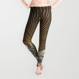 Mountainscape 6 - Night Sun Leggings