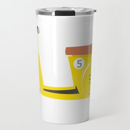 Retro yellow scooter Travel Mug
