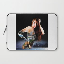 Sexy Woman with Bellagio, Italy Tattooed on Her Back Laptop Sleeve